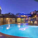 Best Western Plus Lincoln Sands Oceanfront Suites Pool at Night